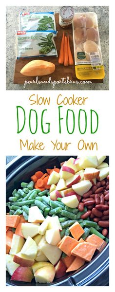 10 Slow Cooker And Crock Pot Dog Food Recipes.  Check out more great dog tips at onelifedog.com