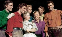 'Seven Brides for Seven Brothers' Director: Stanley Donen Starring: Jane Powell, Howard Keel Genre: Musical Golden Age Of Hollywood, Classic Hollywood, Old Hollywood, Old Movies, Great Movies, Awesome Movies, Movies Showing, Movies And Tv Shows, Jane Powell
