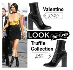 """Look For Less: VALENTINO Patent-leather ankle boots"" by kurvy-katie ❤ liked on Polyvore featuring Valentino and LookForLess"