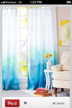Ombré curtains DIY dip dye