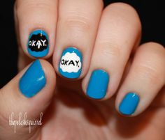 These nails r the best!!!!!!!!!!!! (The fault in our stars is the best book in the world, if u haven't read it... U haven't lived life!)