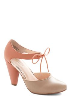 Close Your Eyes Heel in Coral, #ModCloth