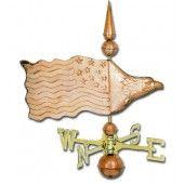 Eagle Banner Copper Weathervane