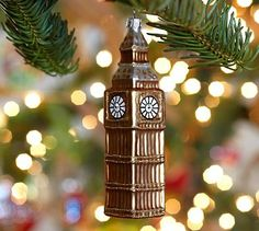 Glass Big Ben Ornament #potterybarn
