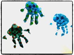Empreintes de mains - méduse