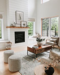 Transitional living room style | house & roses Livng Room, White Shiplap Wall, Transitional Living Rooms, Stone Flooring, Dream Decor, Sweet Home, House Design, Roses, Kitchen Hoods