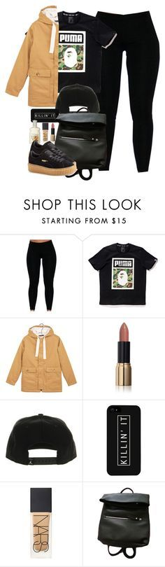 """Puma x Bape"" by cheerstostyle ❤ liked on Polyvore featuring A BATHING APE, Petit Bateau, NIKE, LG, NARS Cosmetics and Puma"