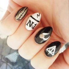 "Pin for Later: 50 ""Nerdy"" Nail Art Ideas That Rock Harry Potter"