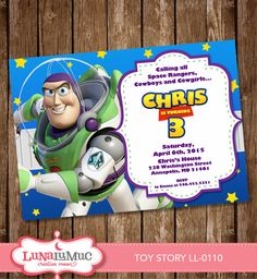 SALE!!! Toy Story invitation Card, Party Invite, Birthday Card, Toy Story Woody LL-0110