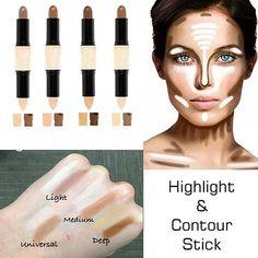 Magic Two Sides Of Beauty Contour Makeup Pen Stick Face Eye Foundation Cream Makeup Tips, Beauty Makeup, Eye Makeup, Makeup Ideas, Diy Beauty, Face Beauty, Homemade Beauty, Makeup Tutorials, Makeup Hacks