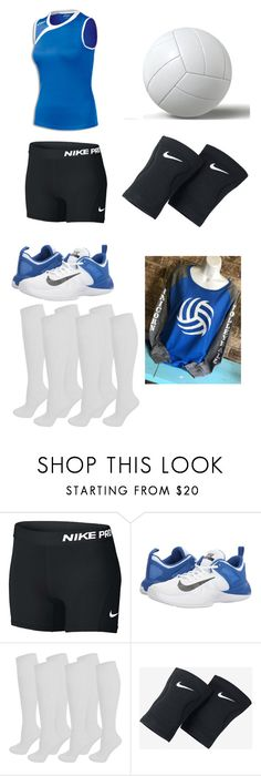 """""""Moonshine Aker Academy Girl's Volleyball"""" by hopecobb ❤ liked on Polyvore featuring NIKE"""