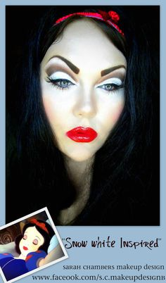 """Snow White Inspired"" http://www.makeupbee.com/look_Snow-White-Inspired_43661"