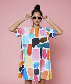 all eyes on these shapes 👀 the shapes jersey dress from our x gorman collaboration is ready for you to take it home x . Gorman Clothing, Looks Style, My Style, Quirky Fashion, Mode Outfits, Look Cool, Diy Clothes, Bunt, Spring Summer Fashion