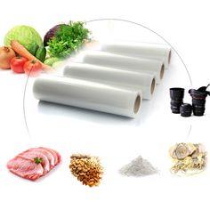 1 Roll Rolls Vacuum Sealer Bags Reusable Storage Bag Food Saver Keep Fresh Tool