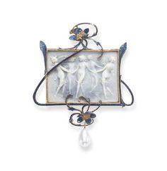 René Lalique pendant ca. 1902-1903 via Christie's