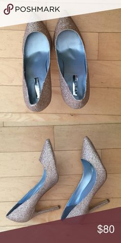 H By Halston Gold Glitter Pumps H By Halston Gold Glitter Pumps, size 8.5. New, never worn. H by Halston Shoes Heels