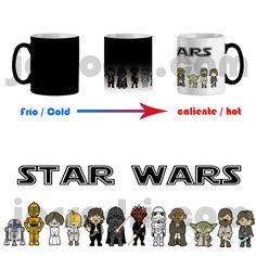 Taza magica mágica magic mug wars star personajes de guerra las galaxias 325ml