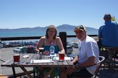 Paraparaumu Beach, My Brother Tony and my sister-in-law, Judith