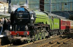 Class Steam Loco No. 60163 'Tornado' at Carlisle shortly after arriving with a Railtour from Doncaster. 'Tornado' hauled the excursion from York over the Settle and Carlisle Railway. Carlisle, Steam Trains Uk, Flying Scotsman, Train Art, Train Engines, Old Trains, British Rail, Train Pictures, Rolling Stock