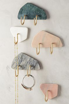 Slivered Marble Hook - anthropologie.com