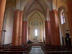 San Nazzaro Sesia (Novara, Italy): Abbey of Saints Nazario and Celso -  interior of the Lombard gothic church