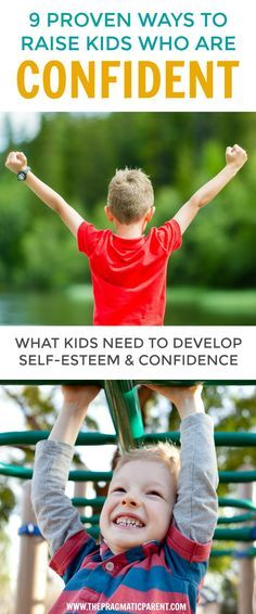 Raise Kids Who are Confident and Have Positive Self-Esteem for Lifelong Success. Confident Kids are more likely to trust their own judgment, aren't afraid to fail, communicate better, effectively problem solve, & better self-esteem than a child who is not confident in themselves. via @https://www.pinterest.com/PragmaticParent/