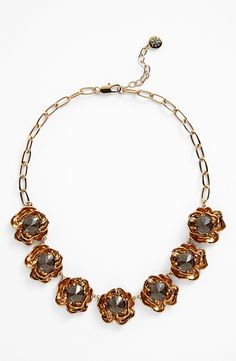 Tory Burch 'Crystal Rose' Collar Necklace