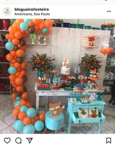 Fox Party, Baby Party, Baby Shower Parties, Baby Shower Themes, Baby Shower Decorations, Balloon Backdrop, Balloon Garland, Balloons, Baby Shower Fall