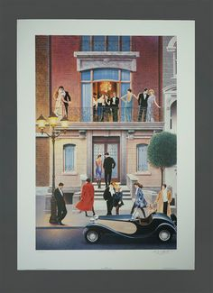 1991 Keith Mallett Dinner Party Poster Signed by VintageInquisitor