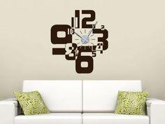 Wandtattoo Uhr Zahlenmix für Dein Wohnzimmer