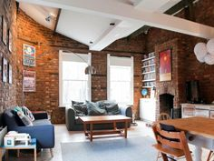 Check out this awesome listing on Airbnb: Entire Former Pub in Peckham in Greater London Breakfast Bar Lighting, London House, Exposed Brick, Mid Century Furniture, Cheap Furniture, Rental Apartments, Renting A House, Small Spaces, Beautiful Homes