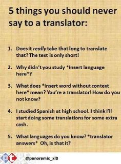 5 Things You Should Never Say to a Translator