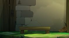 Animation Backgrounds by Sabrina Miramon, via Behance