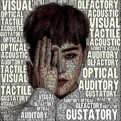 Do you know these words that are related to the five senses? - acoustic/auditory: the sense of hearing  - olfactory: the sense of smell  - tactile: the sense of touch  - optical: the sense of sight  - gustatory: the sense of taste   #vocabulary #G-DRAGON