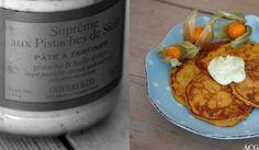 Søtpotetlapper (8 små lapper) 100 g kokt søtpotet, revet 1 egg 75 g hvetemel 0,75 – 1 dl melk 1 kryddermål ingefærpulver Salt