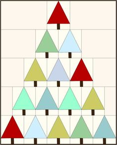 Modern Trees - this would be cool for a Christmas quilt!