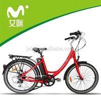 moda e-bici de 26 pulgadas venta nueva ciudad clásico estilo bicicleta dama eléctrica bicicleta / bicicleta en Alibaba