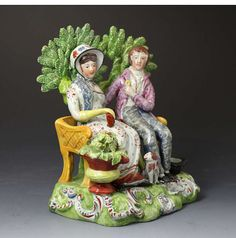 """Side view of the Staffordshire Pottery """"Persuasion"""""""