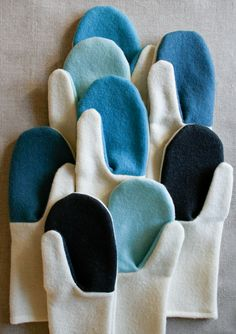 Molly's Sketchbook: Simple Felted Wool Mittens - The Purl Bee - Knitting Crochet Sewing Embroidery Crafts Patterns and Ideas!