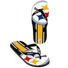 Steelers Flip Flops