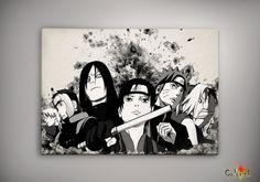 Naruto Shippuuden Anime Poster Wall Decor Watercolor Art Print Anime Gift n38