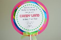 better than i could have imagined: How to Make Lollipop Party Invitations