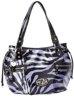 KATHY Van Zeeland Zoo Animal Shoulder Bag,Grape/Black,One Size - http://clutches-handbags-shoes.com/2013/04/kathy-van-zeeland-zoo-animal-shoulder-baggrapeblackone-size/