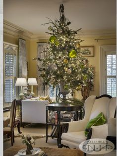 Nell Hills Christmas Tree from 2012 Open House.  Like us on Facebook. Facebook.com/rowhouseeventsandinteriors