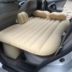 Cubre Coche Asiento trasero inflable cama De Colchón De Aire de Alta calidad flocado Coche cama para el Automóvil cama inflable Cojín como regalo