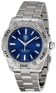 TAG Heuer Men's WAP1112.BA0831 Aquaracer Blue Dial Watch TAG Heuer. $1114.94. •Quartz movement•Durable sapphire crystal protects watch from scratches•Case diameter: 39 mm•Stainless-steel case•Water-resistant to 984 feet (300 M). Save 38% Off!
