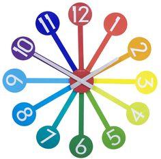 Zegar ścienny Pantone Guide - NEXTIME - DECO Salon #clock #forkids #design #kidsdesign #dladzieci