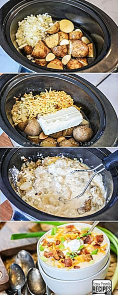 Husband said this is the BEST Soup! Loaded Potato Soup Crock Pot recipe My Husband said this is the BEST Soup! Loaded Potato Soup Crock Pot recipe My Husband said this is the BEST Soup! Crockpot Dishes, Crock Pot Cooking, Cooking Recipes, Potato Recipes Crockpot, Crock Pot Soup Recipes, Easy Crock Pot Meals, Crock Pot Desserts, Cooking Rice, Cooking Pork