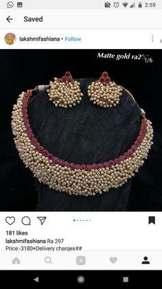 Gold Jewelry Design In India Gold Jewellery Design, Bead Jewellery, Beaded Jewelry, Gold Jewelry Simple, Stylish Jewelry, Fashion Jewelry, Jewelry Model, India Jewelry, Jewelry Patterns