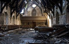 A historic beautiful abandoned church with decay